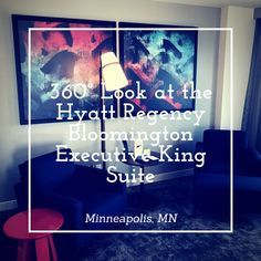 360° Pictures of the Hyatt Regency Bloomington Executive King Suite