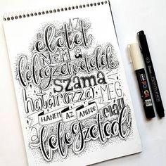 Bea Királyfalvi Hand Lettering (@betuk_es_pont) • Instagram-fényképek és -videók Hand Lettering, Arabic Calligraphy, Instagram, Handwriting, Arabic Calligraphy Art, Calligraphy, Hand Drawn Type, Hand Type, Penmanship