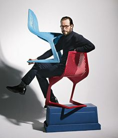 Konstantin Grcic and the Myto chair by Plank.  http://www.plank.it/product/myto-chair/