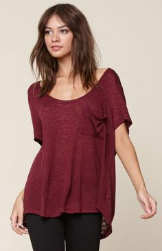 Hooked on Cozy Pocket Short Sleeve T-Shirt that I found on the PacSun App