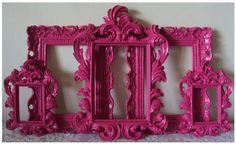 Buy cheap frames at Goodwill, Salvation Army, Yard Sales, etc. and spray paint them!  Easy and inexpensive decor. www.pureromance.com/sarahamatthews