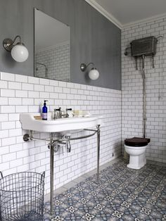 Sink and subway tile
