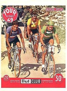 Vintage 1949 Tour de France Cycling Poster A3 PrintPaper Size - A3A3 297mm x 420mm or 16 5 inc x 11 7 incAll prints are the best possible fit to a