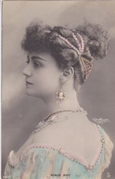 "Lovely Edwardian Stage Actress ""Maud Amy"" Original Vintage French Postcard 