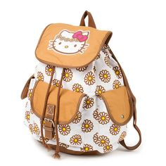 Hello Kitty Daisy Backpack   Claire's  I have this backpack , I bought it for my birthday! It's SO cute in person! :)