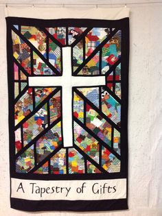 Stewardship quilt....custom quilt....custom quilting....stained glass quilt...church quilt....