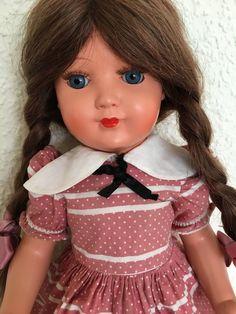 1 of 5: Alte Schildkröt Puppe 46 cm, am Kopf gemarkt 350/41