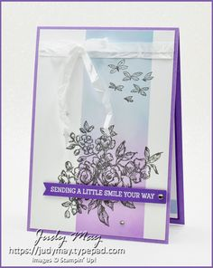 Stampin' Up! - Fancy Phrases - Judy May, Just Judy Designs, Melbourne Fun Fold Cards, Folded Cards, Heart Cards, Ink Pads, My Stamp, Creative Cards, Soft Colors, Stampin Up Cards, Your Cards
