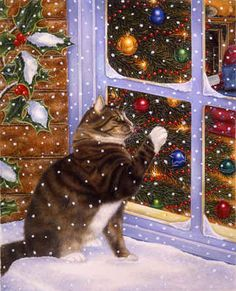 """Christmas Visitor"" by Anne Mortimer"