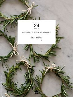 natural christmas tree 24 ways to decorate with rosemary this holiday Rosemary Christmas Tree, Natural Christmas Tree, Natural Christmas Decorations, Yule Decorations, Holiday Decor, Christmas Wrapping, Christmas Wreaths, Christmas Crafts, Christmas Ornaments