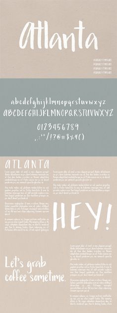 Atlanta | A Friendly Typeface - Script #font #typeface #typegang #typespire #typematters #type #fontdesign #typography #graphicdesign #typographyinspire #handmadefont #creativemarket #ad