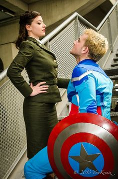 Peggy Carter and Steve Rogers(Captain America) from Captain America