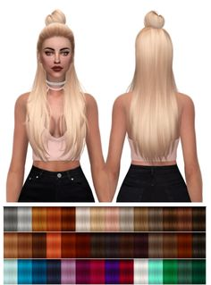 Hairstyles: HallowSims Myra Retxture from Kenzar Sims The Sims 4 Pc, Sims Four, Sims 4 Cas, My Sims, Sims Cc, Sims Baby, Sims 4 Toddler, Los Sims 4 Mods, The Sims 4 Cabelos