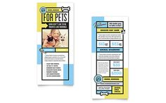 pet boarding rack card template design by stocklayouts
