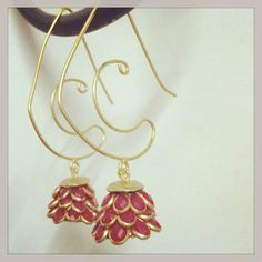 Earrings - simple sober neat creative@cratfsandlooms.com for more details.