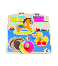 My Toys Knob Puzzle From Hape from The Wooden Toybox