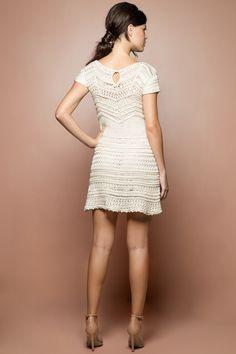 Vestido Crochet Queen Off - Vanessa Montoro - vanessamontoro