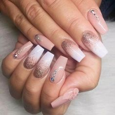 Tapered Square Nails. Square Nails. Ombre Nails. Nude Nails. Nails With Rhinestones. Glitter Nails. Nails With 3d Art. Acrylic Nails. Gel Nails.