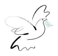 #giannelli #meiklejohn #illustration #digital #stylised #dove #holly #bird #peace