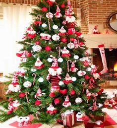 arvore de natal decorada  ❤️vanuska❤️