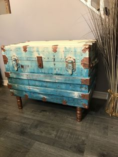 Antique Furniture on a budget, Chalk paint retailer Project Ideas, Projects, Hope Chest, Chalk Paint, Antique Furniture, Storage Chest, Cabinet, Antiques, Painting