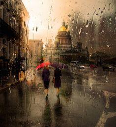 Rainy Cityscape Photography by Eduard Gordeev