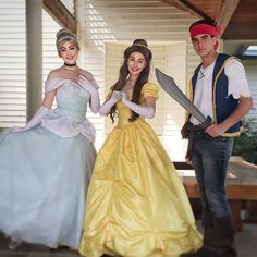 #tbt to this past weekend's fun party! Book any three characters starting at just $249! Contact us today for details #girlygirlparteas #cinderella #belle #beautyandthebeast #jakethepirate