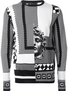 Versace graphic print sweater