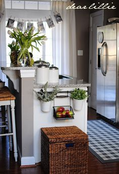 cute small kitchen ideas and painted chalkboard end of cabinet