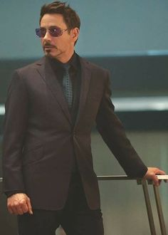 Sharp-dressed Tony Stark.  Every woman's crazy 'bout a sharp dressed man.""
