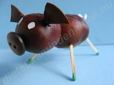 Chestnut figures – 2 – dietetics for everyone – pictures, photos, photo, light … - Arte Naturalista, Baby Crafts, Diy And Crafts, Diy For Kids, Crafts For Kids, Acorn Crafts, Diy Plastic Bottle, Glands, Conkers