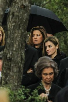 (L-R) Princess Alexia of Greece, Princess Letizia of Spain and Queen Sofia of Spain Members of the different Greek Royal Family branches have attended a flower offering at King Paul's tomb at Tatoi Palace in Athens on the 50th anniversary of his death, 06.03.14