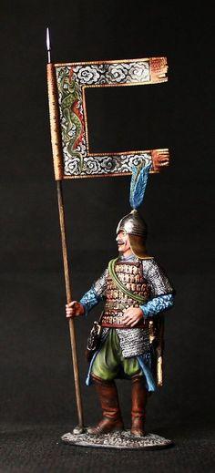 ELITE TIN SOLDIER: Muslim Turkish Warrior 54 mm., figurine, metal sculpture. #Spbsouvenir