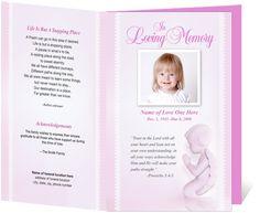 ... Service Programs: Letter Single Fold : Angela Funeral Program Template