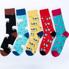 Cartoon Farm Animals Cute Sheep Cow Pig Funky Harajuku Men Colorful Happy Socks Autumn Funny Hip Hop Casual Cotton Socks Winter Price: 8.99 & FREE Shipping #fashion|#health|#beauty|#fitness Happy Socks, Wholesale Socks, Harajuku, Hip Hop, Cute Sheep, Funky Socks, Shop Till You Drop, Short Socks, Fashion Socks