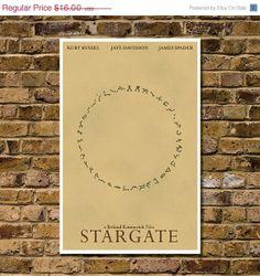 "Retro Stargate Cult Movie Poster - High Quality 11""x17"" Minimalist Art Print on Wanelo"