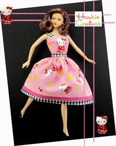 Hello Kitty Barbie Hankie Couture