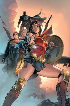 The Trinity by Clay Mann. Wonder Woman & Superman & Batman