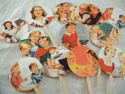 Housewife cupcake toppers
