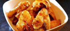 Sticky chicken wings, gebakken aardappeltjes en snijbonen