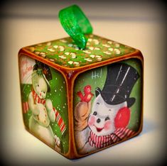 Retro Vintage Christmas Ornament by ChickenDoodles on Etsy, $6.00