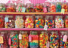 Candy Store - Jigsaw Puzzle by Cobble Hill Candy Table, Candy Buffet, Bar A Bonbon, Candy Display, Apple Smoothies, Candy Party, Savoury Cake, Clean Eating Snacks, Jigsaw Puzzles