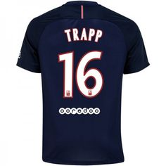 Paris Saint Germain PSG 16-17 Kevin #Trapp 16 Hjemmebanesæt Kort ærmer,208,58KR,shirtshopservice@gmail.com