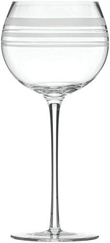 kate spade new york Library Stripe Balloons – 4 ct  The kate spade new york Library Stripe 4-piece Wine Glass Set is a perfect example of what kate spade new york does best: mixing classical design with modern touches. Alternating deep cut bands of frosted and clear crystal combine for a chic sensibility. Material: Crystal Made in China Care Instructions: Dishwasher Safe Crafted of Crystal Crafted of Crystal Capacity: 16 oz  http://www.buybestwine.com/kate-spade-new-york-library-st..