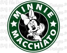 Minnie Mouse Macchiato Disney Starbucks Coffee by SVGFileDesigns