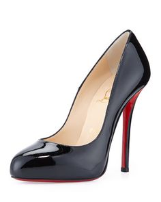 Argotik Patent Red Sole Pump, Black by Christian Louboutin. Just added these to my collection today!