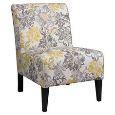 Floral Accent Slipper Chair - Your Style Designer