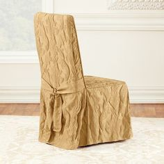 Sure Fit Matelasse Damask Dining Room Chair Slipcover,