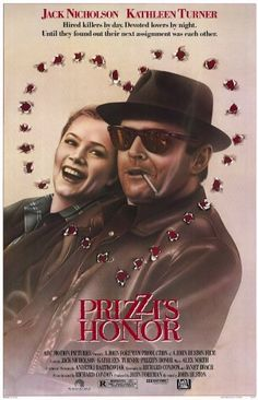 Amazon.com : Jack Nicholson & Kathleen Turner 1985 Prizzi`s Honor Original Folded Movie Poster As Received By Theater Approx. 27X41 : Prints : Everything Else