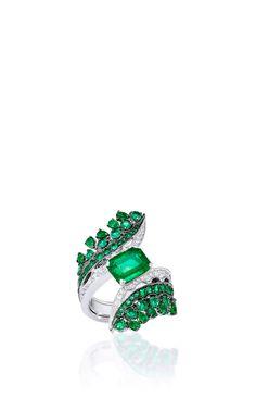 Vanleles X Gemfields Octahedron Emerald Ring   by VANLELES  for Preorder on Moda Operandi